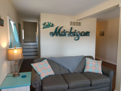 Duplex West, Lake Michigan Beach Theme Livingroom