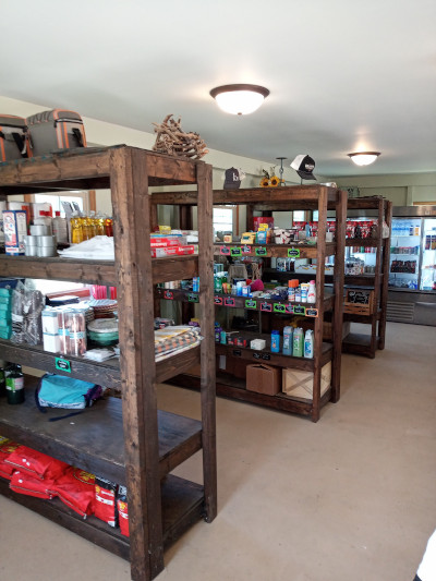 The Outpost campground store, fair prices, Michigan made products, convenient