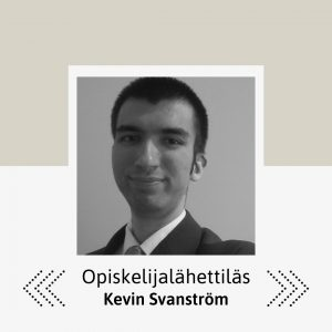 Kuvassa Kevin Svanström.