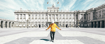 Man standing in Madrid