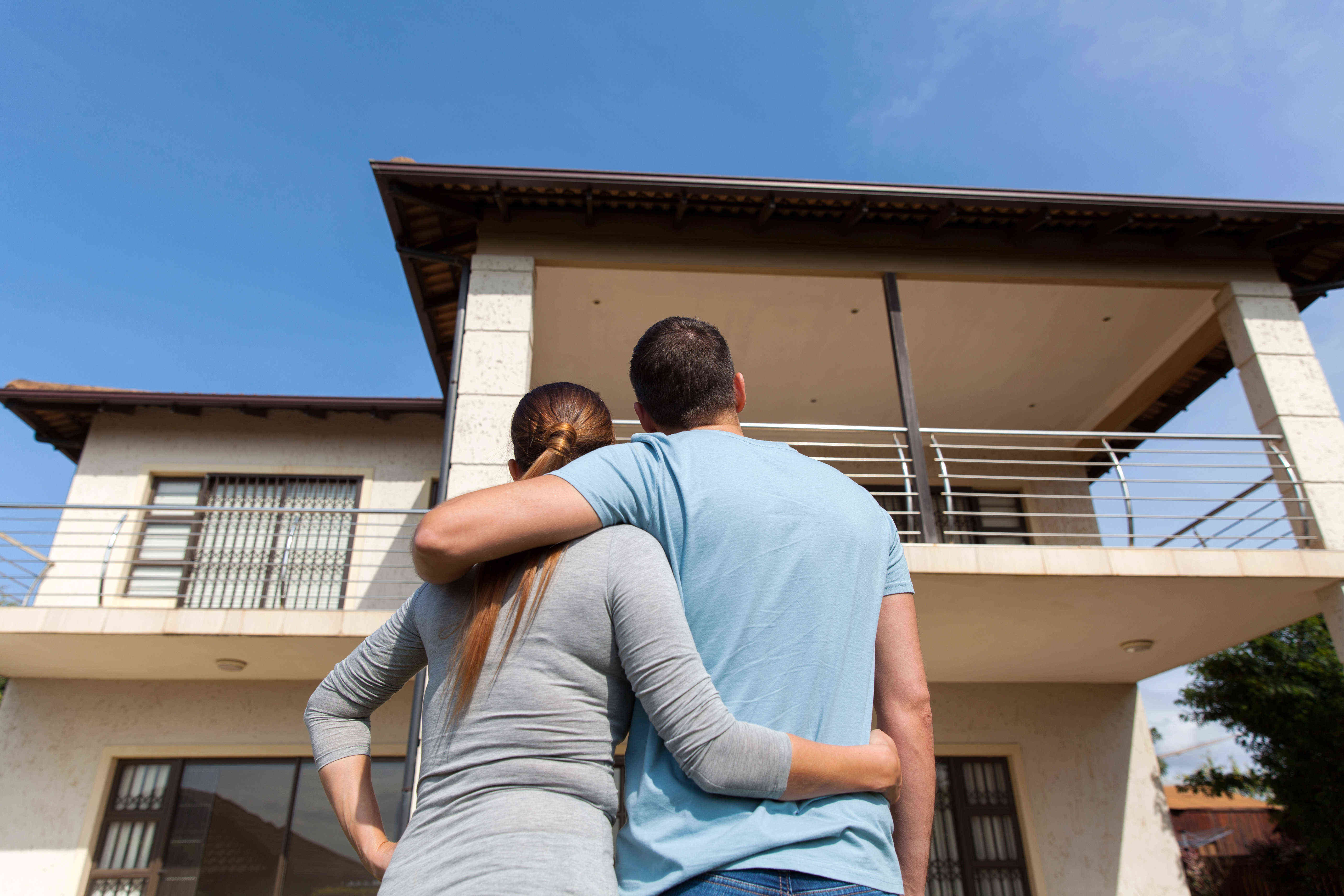 couple buying new first home