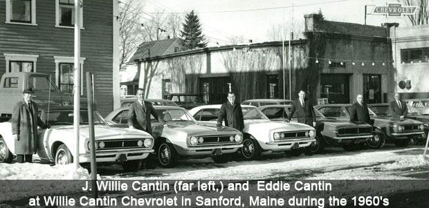 Cantin Chevrolet in Sanford during the 1960's