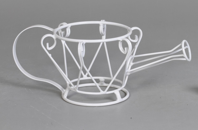 2 suportes cachepots bule branco (inclui cachepots)