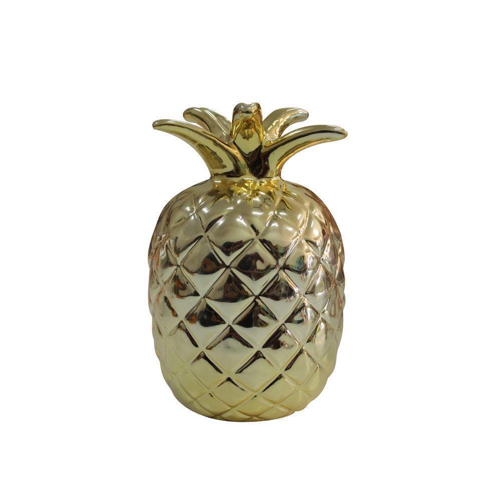 Abacaxi Cromado Dourado