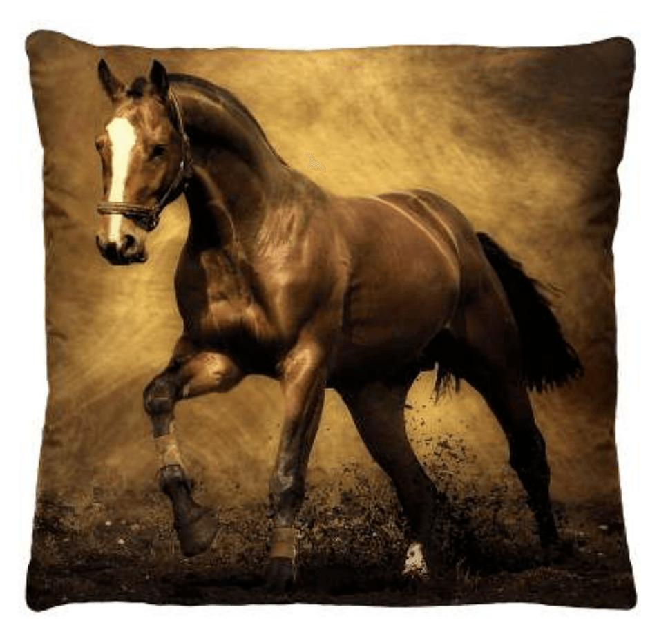 Almofada Decorativa Estampada Cavalo Inteiro