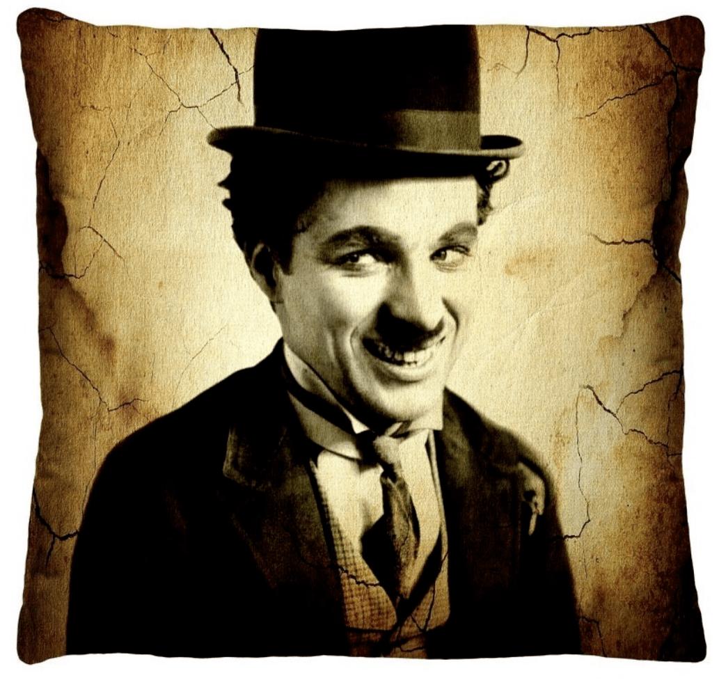 Almofada Decorativa Estampada Charles Chaplin
