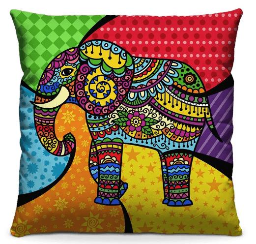 Almofada Decorativa Estampada Elefante