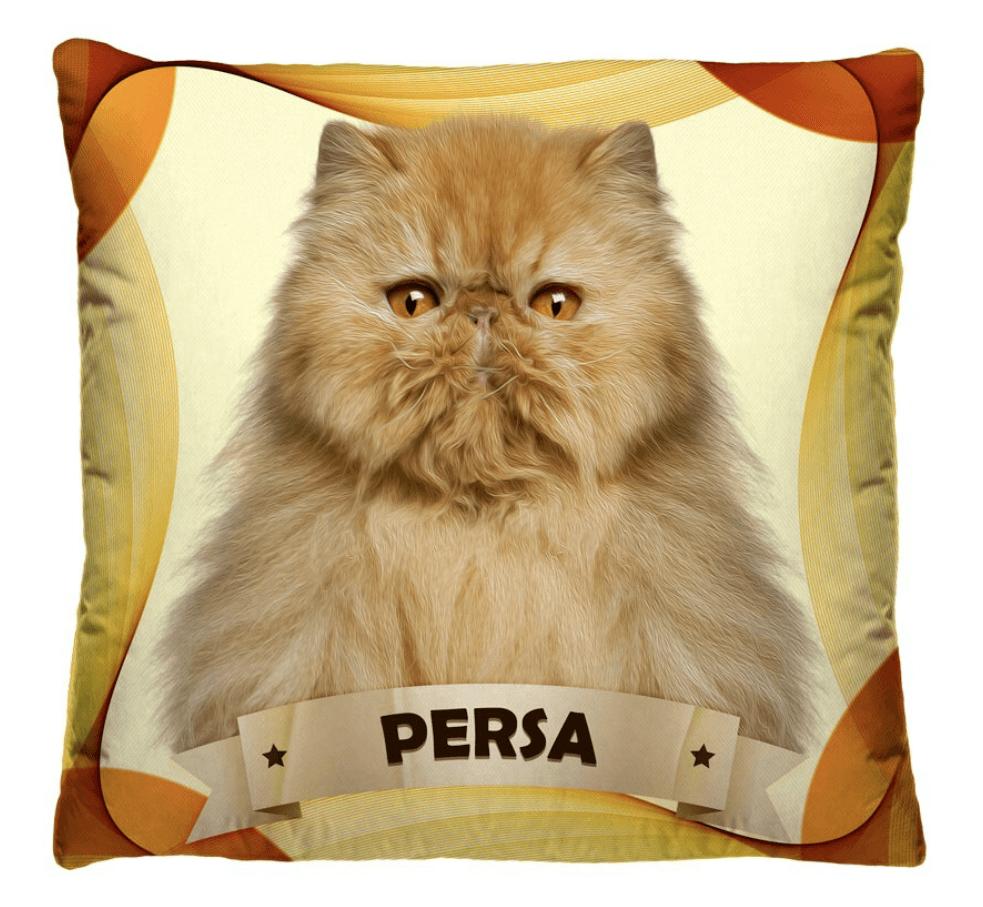 Almofada Decorativa Estampada Gato Persa
