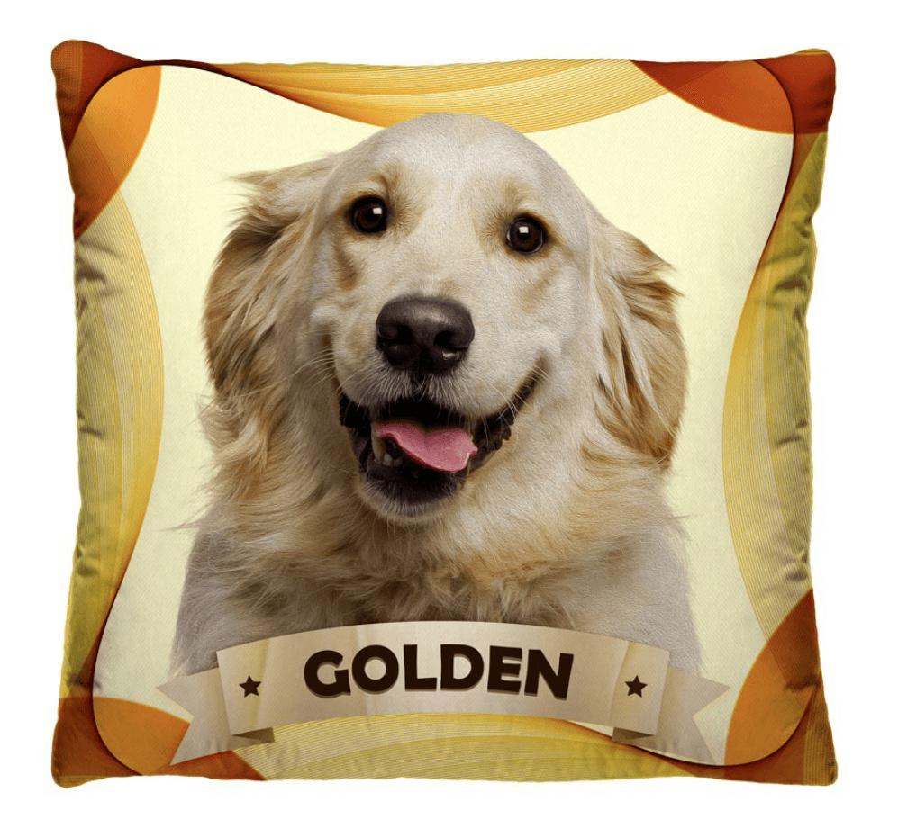 Almofada Decorativa Estampada Golden Fundo Amarelo