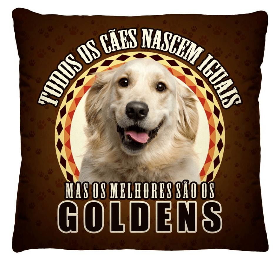 Almofada Decorativa Estampada Golden Fundo Marrom