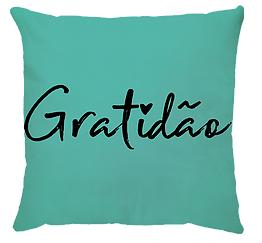 Almofada Gratidão ( Aqua)
