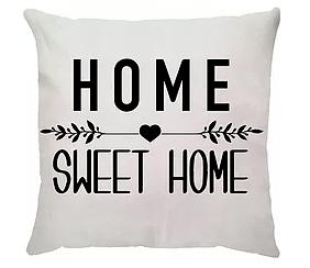 Almofada Home Sweet Home (Branca)