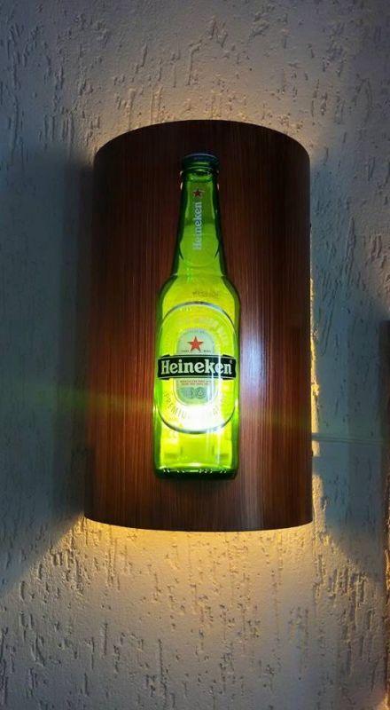 Arandela Luminária Bar Gourmet Cerveja Budweiser Heineken