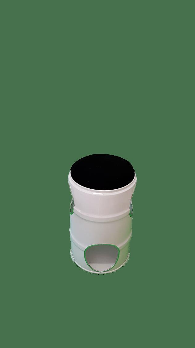 Banco de Tambor 53 cm Design Branco