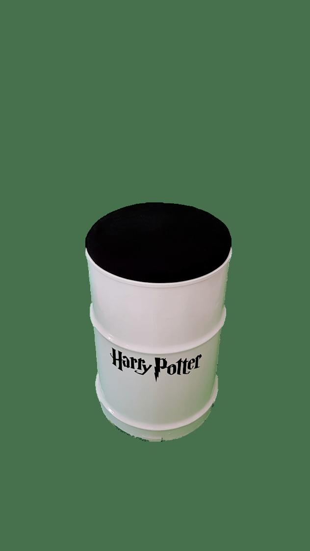 Banco de Tambor 53 cm Harry Potter Branco - Funciona como Baú