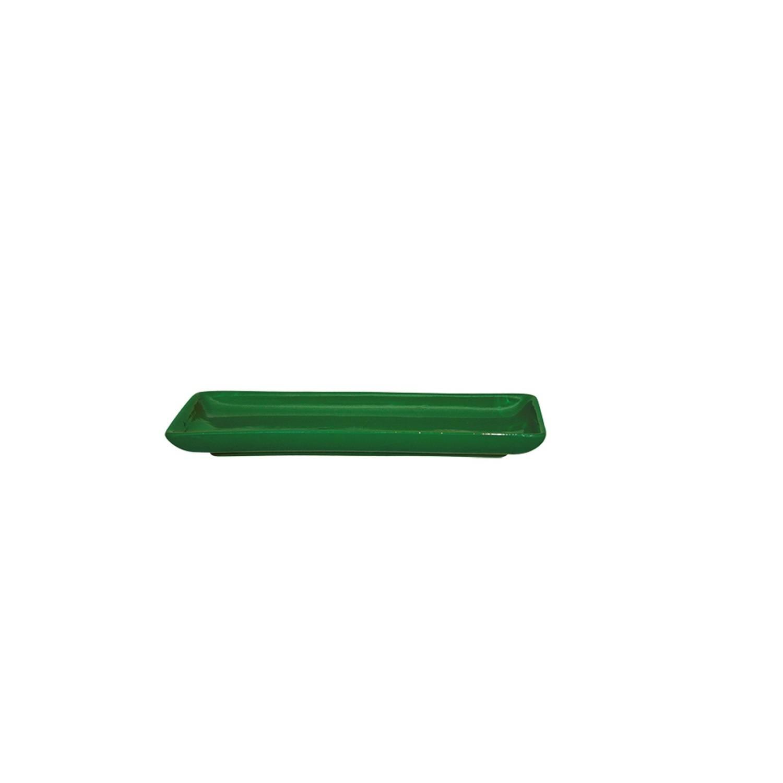 Bandeja Em Cerâmica Verde