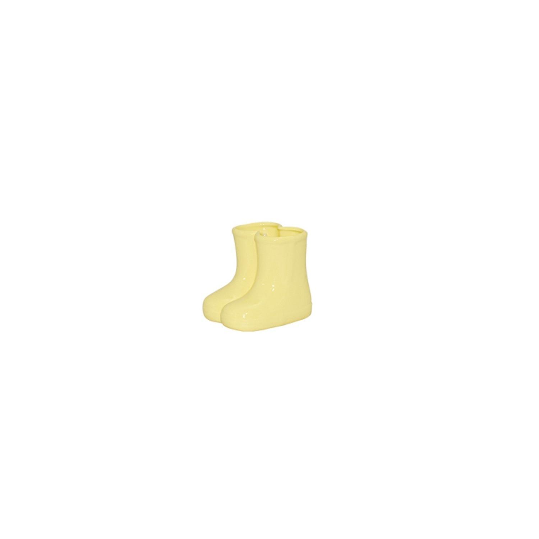 Botinha Em Cerâmica Amarela Candy