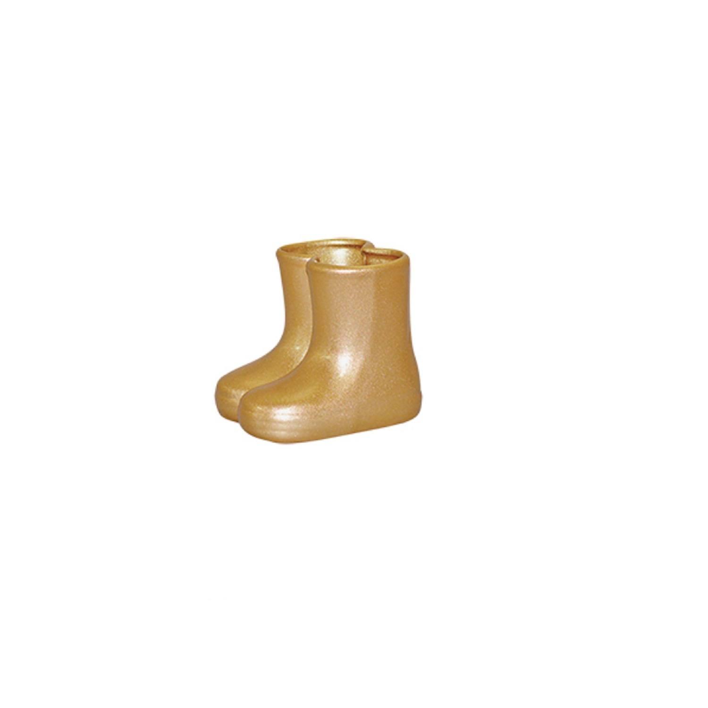 Botinha Em Cerâmica Dourada