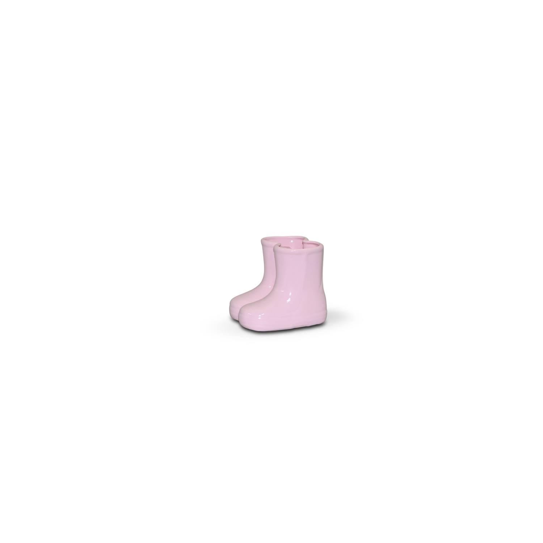 Botinha Em Cerâmica Rosa Candy