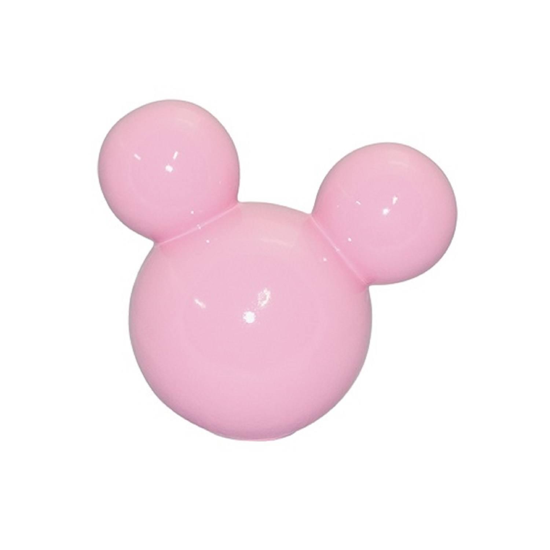 Cabeça De Mickey Grande Em Cerâmica Rosa Candy