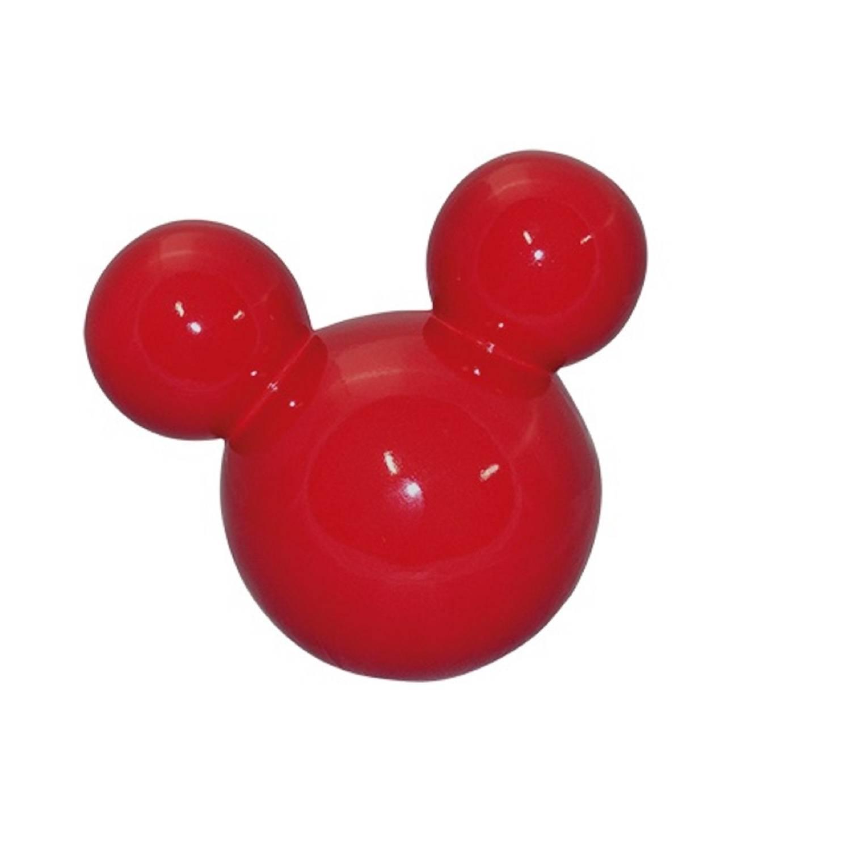 Cabeça De Mickey Grande Em Cerâmica Vermelha