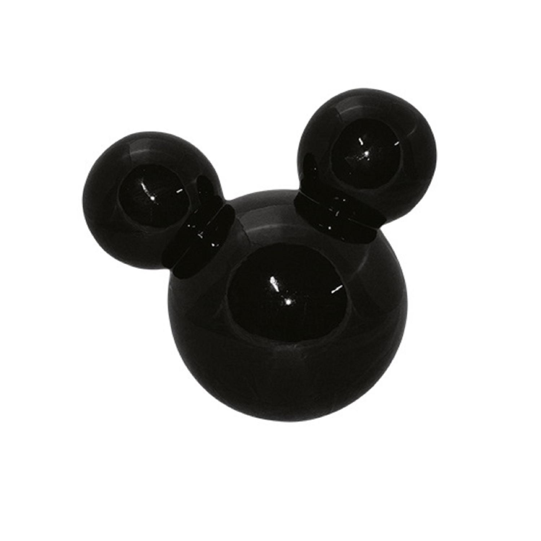 Cabeça De Mickey Grande Em Cerâmica Preta