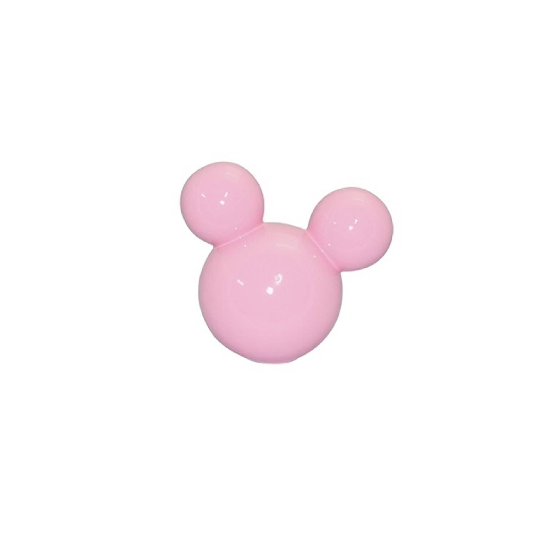 Cabeça De Mickey Pequeno Em Cerâmica Rosa Candy
