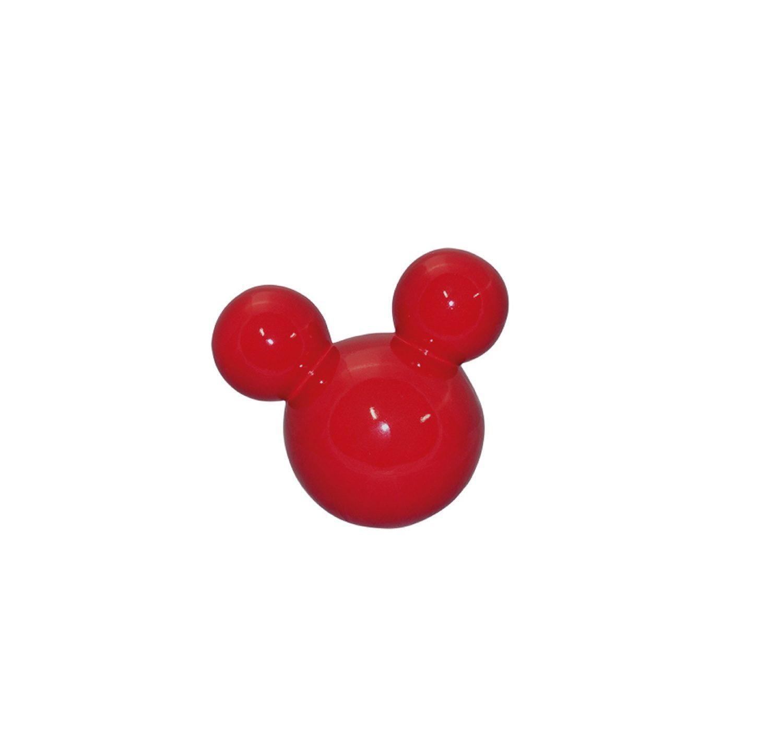 Cabeça De Mickey Pequeno Em Cerâmica Vermelha