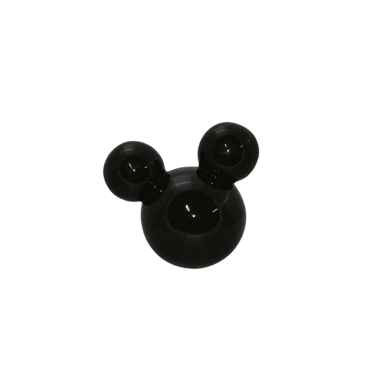 Cabeça De Mickey Pequeno Em Cerâmica Preta