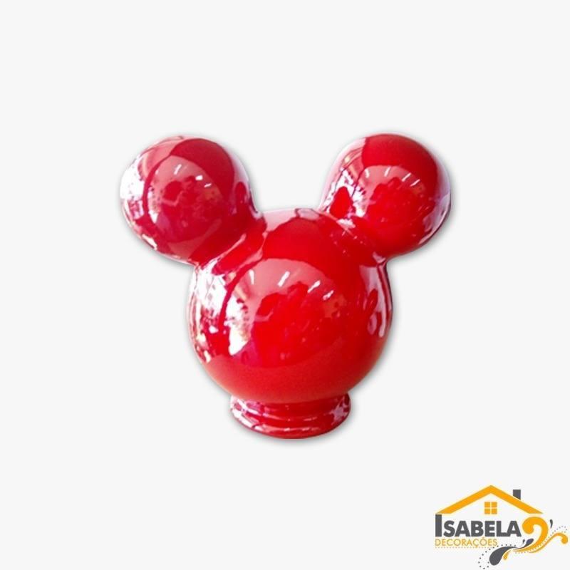 Cabeça do Mickey Minnie em Cerâmica