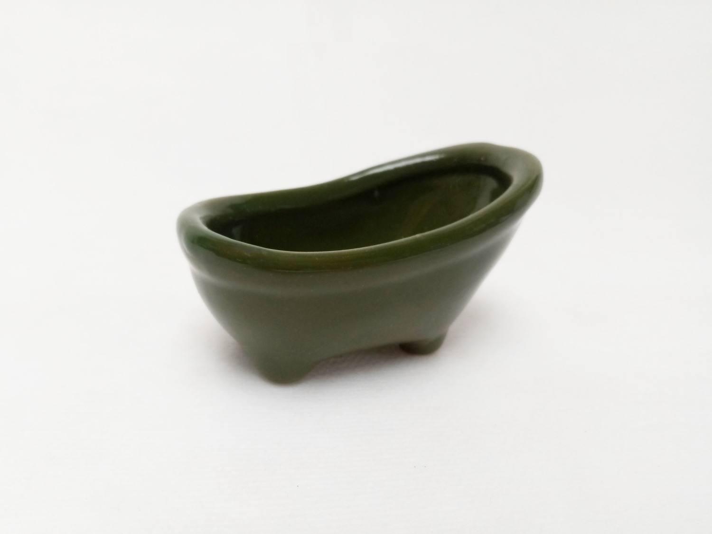 Cachepô Banheirinha Verde Musgo
