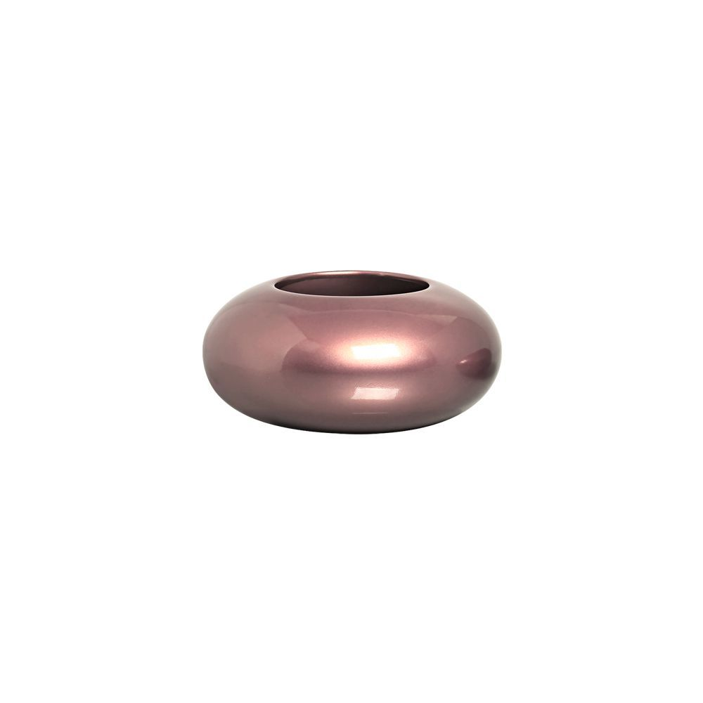 Cachepot Redondo Vaso M Decoração Em Cerâmica Rosé Gold