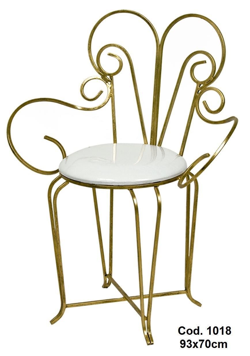 Cadeira Princesa em Ferro Cor Ouro para Decoração de Festas