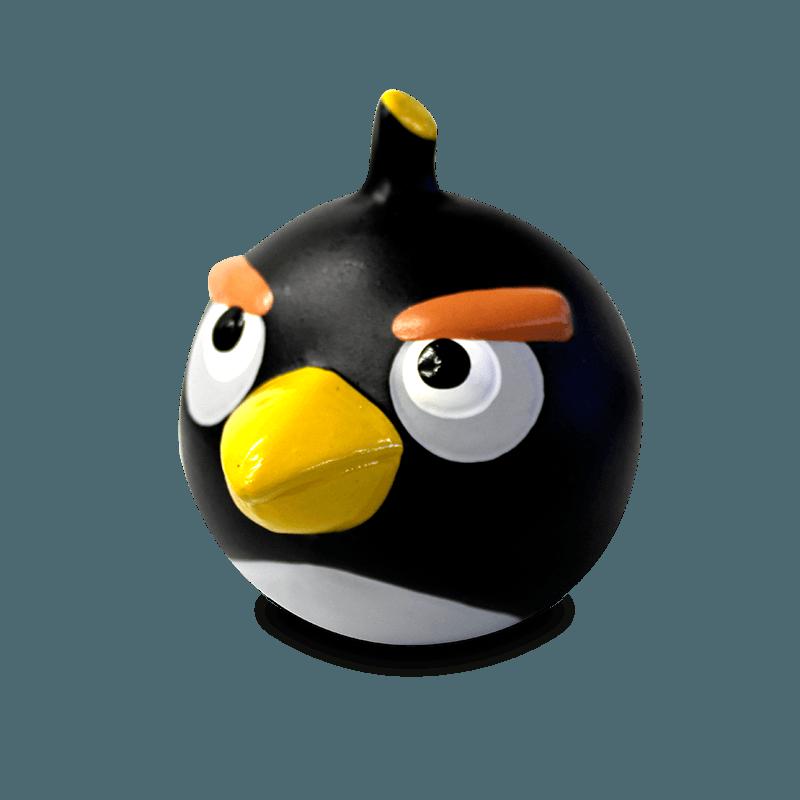Cofre Angry Birds Preto Cerâmica
