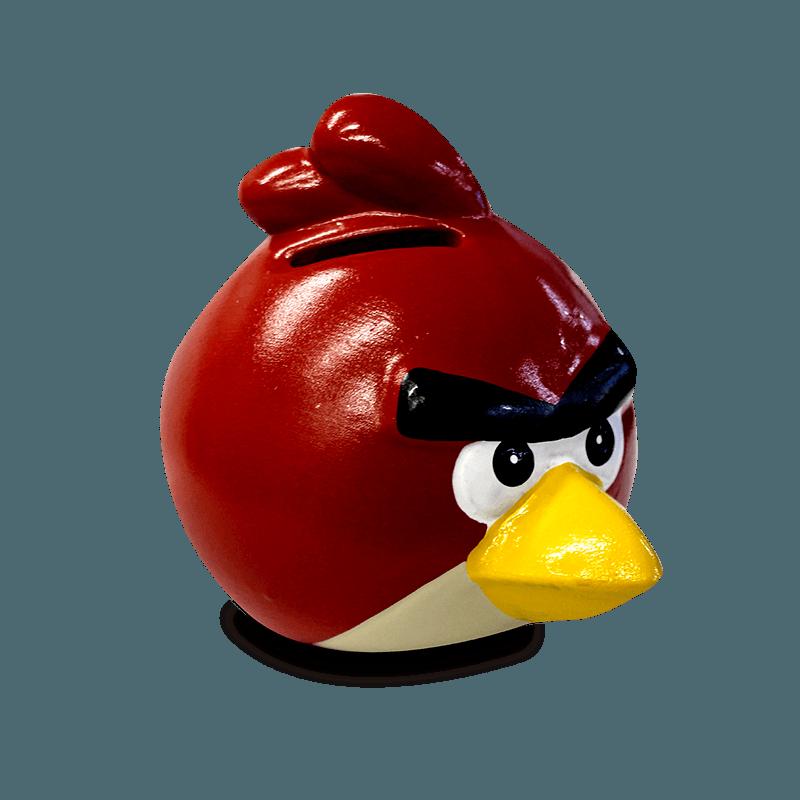 Cofre Angry Birds Vermelho Cerâmica