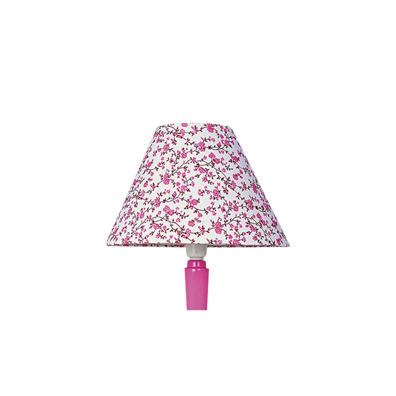 Cúpula 10X25 Cônica Tecido Infantil Florzinha Pink