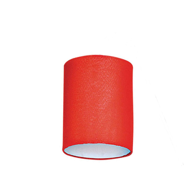 Cúpula Cilíndrica Pequena Tecido Liso Vermelho