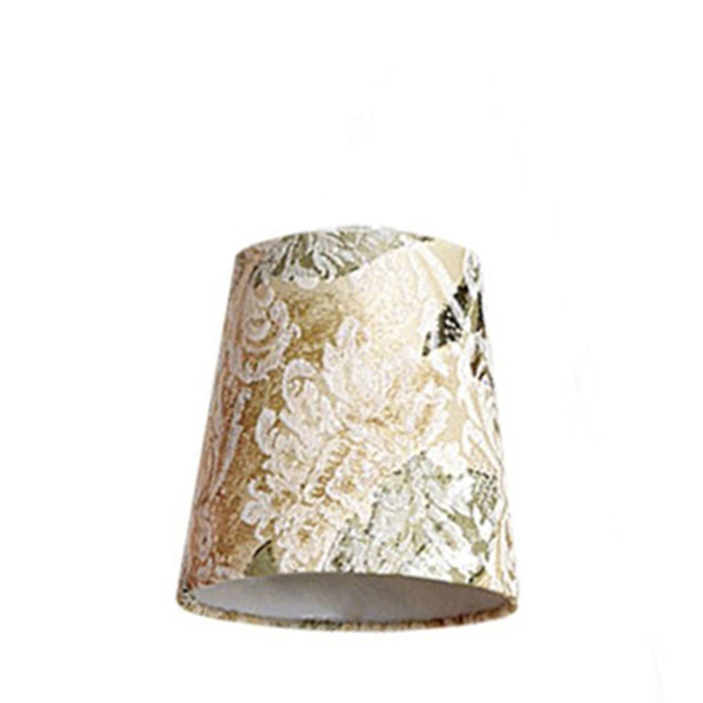 Cúpula Mini Cone Para Leitura Tecido Jacquard Marfim