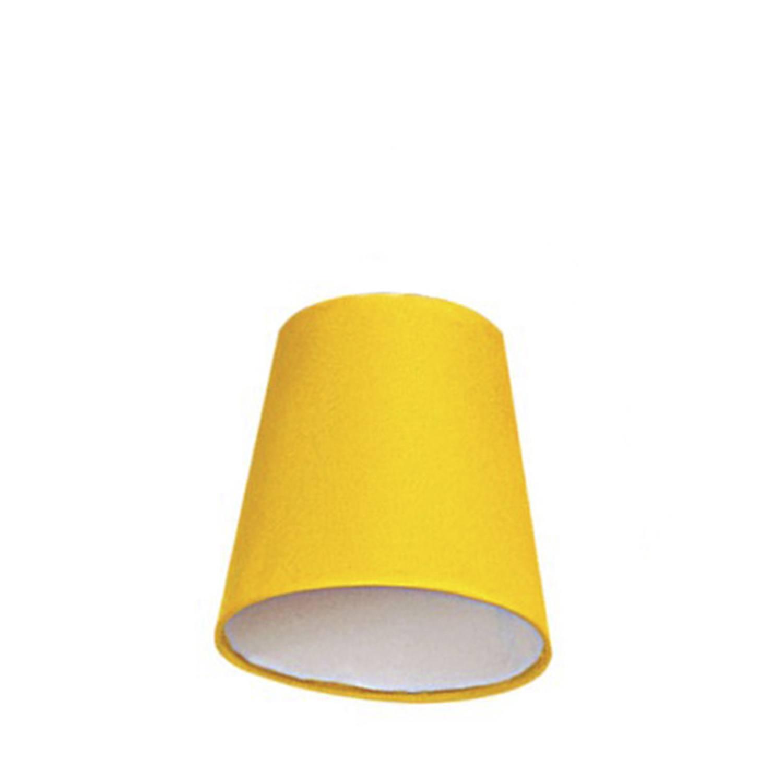 Cúpula Mini Cone Para Leitura Tecido Liso Amarelo