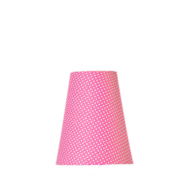 Cúpula Pequena Cone Tecido Infantil Poá Pink