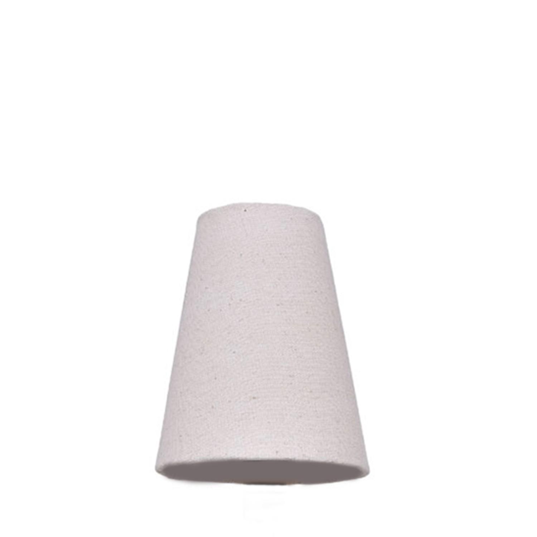 Cúpula Pequena Cone Tecido Liso Algodão Crú