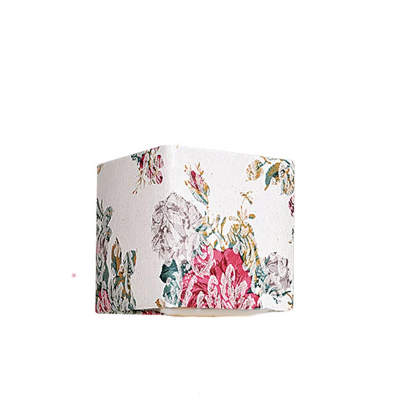 Cúpula Pequena Quadrada Tecido Jacquard Pink