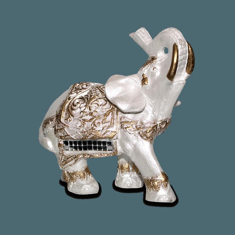 Elefante Abacaxi Pequeno Gesso Perolizado