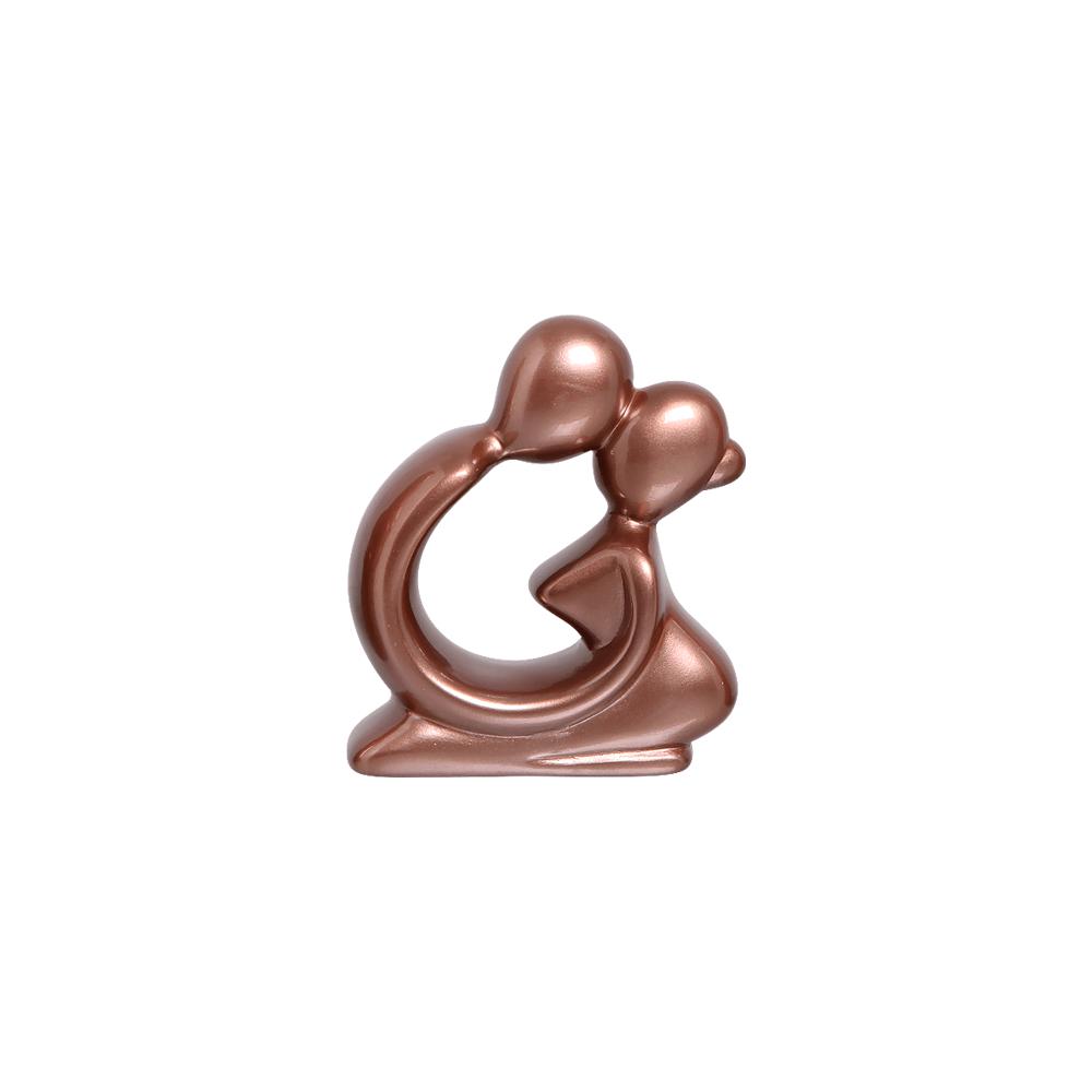 Escultura Moderna Baby Decoração Cerâmica Rose Gold