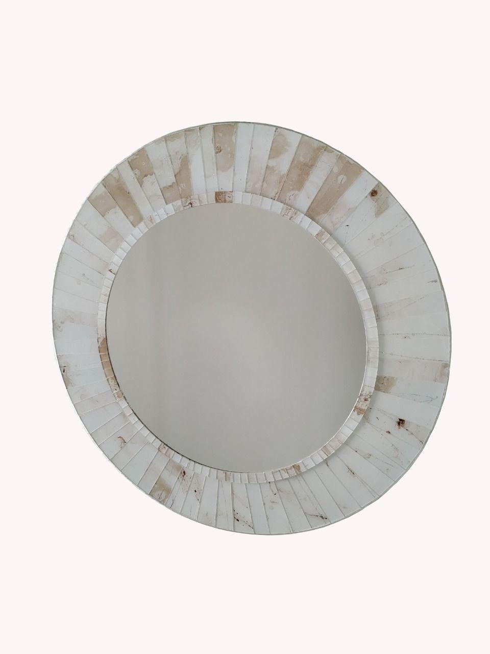 Espelho Mosaico de Vidro Cor Travertino Revestido em Vidro