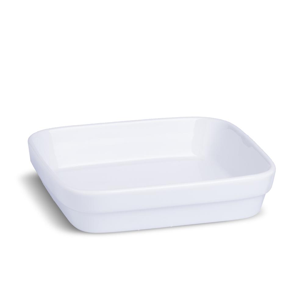 Forma Quadrada para Lasanha 21,5 cm em Porcelana Branca