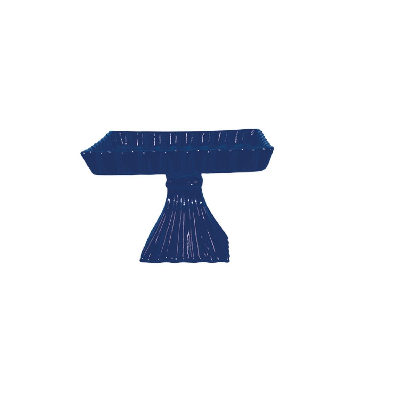 Fruteira Em Cerâmica Azul Cobalto