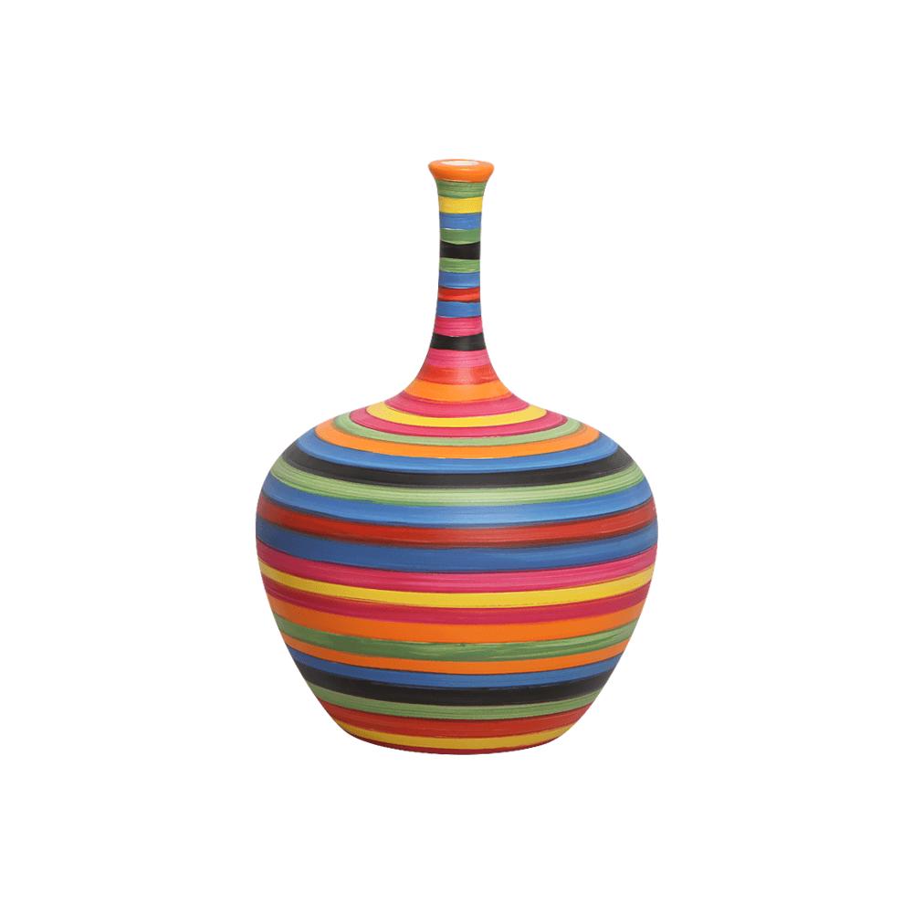 Garrafa Decorativa Lira P Decoração Em Cerâmica Colors