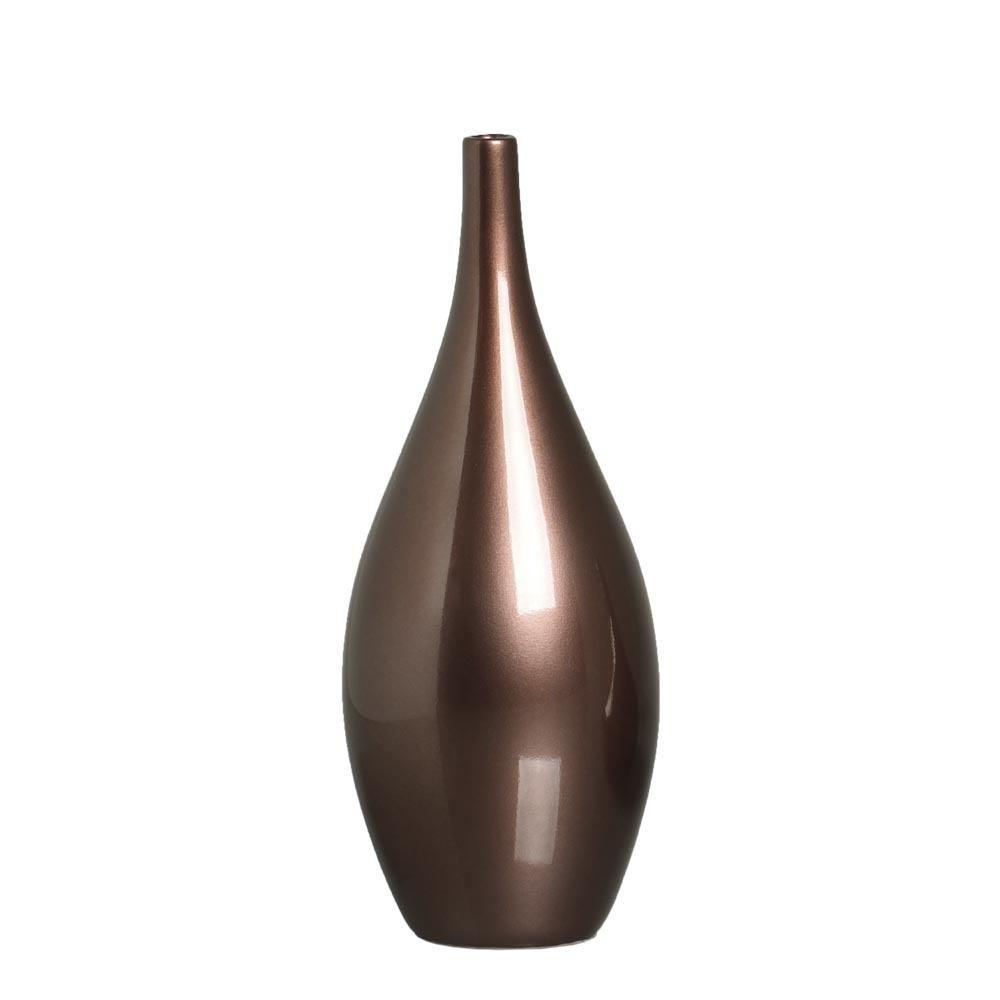 Garrafa Jasmim G Decoração Em Cerâmica Bronze
