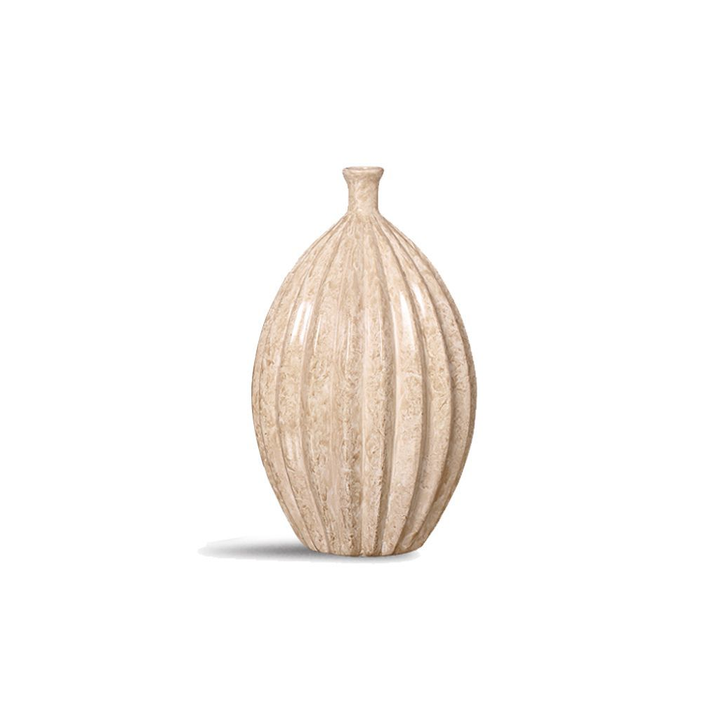 Garrafa Viena M Decoração Em Cerâmica Bege Marmorizado Petra